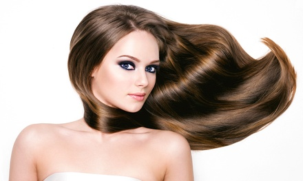 Full or Express Keratin Treatment, Brazilian Blowout or Split-End Treatment by Helene Rene (Up to 61% Off)
