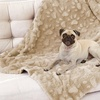 Paw-Embossed Plush Deluxe Pet Blanket