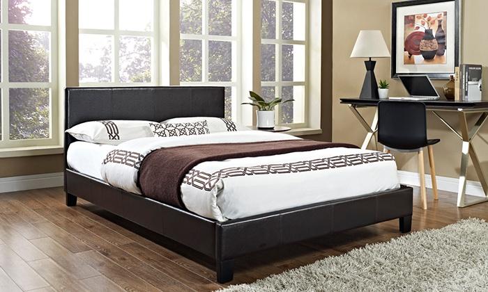 Prado bed frame groupon goods for Beds groupon