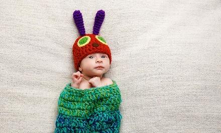 Newborn Photoshoot with a Print