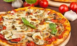 Gecko Torhaus: 40 cm Riesenpizza nach Wahl inkl. Landwein für Zwei oder Vier im Gecko Torhaus