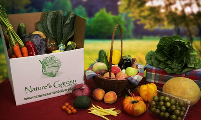 Nature's Garden Delivered: $19 for One Small, Delivered Box of Organic Produce from Nature's Garden Delivered ($38 Value)