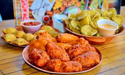 Dine-In or Takeout Wings, Burgers, and Seafood at Show-Me's (Up to 40%Off)