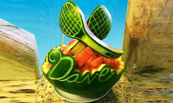 Party Melon - Palm Beach: $45 for $80 Worth of creative fruit carving delivery at Party Melon