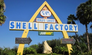Up to 50% Off Nature-Park and Fun-Park Admission at The Shell Factory and Nature Park, plus 6.0% Cash Back from Ebates.