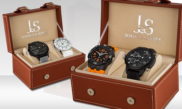 Joshua & Sons Men's Sports Watch Gift Pack: Joshua & Sons Men's Sports Watch Gift Pack. Multiple Options Available. Free Shipping and Returns.