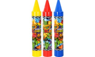 Crayola Kids@Work Building Blocks in Giant Crayon Tubes