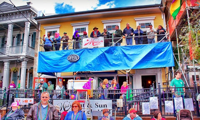 Mia's Balcony - Lower Garden District: One or Two Tickets to a Mardi Gras Parade Party at Mia's Balcony (Up to 56% Off)