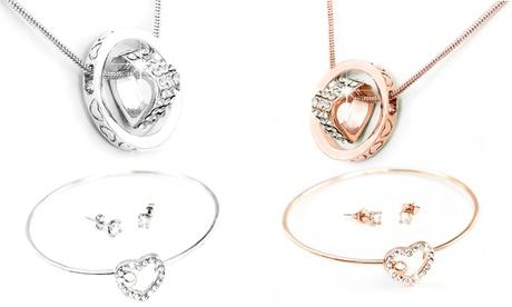 1 o 2 conjuntos collar y pulsera con cristales de Swarovski®