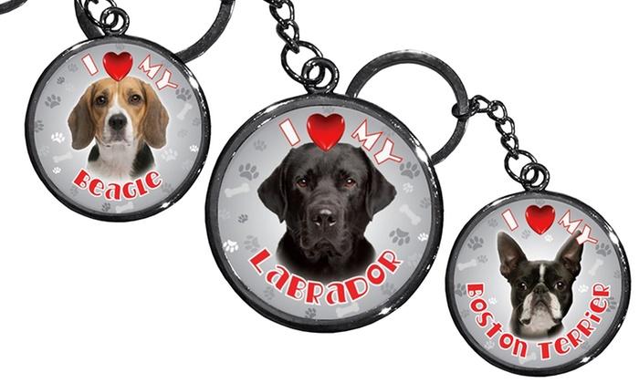 iLeesh I Love My Dog Keychains: iLeesh I Love My Dog Keychains. Multiple Breeds Available. Free Returns.