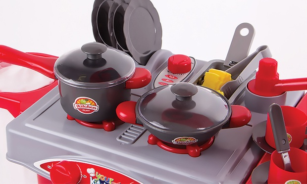 Kitchen set with accessories groupon goods for Kitchen set groupon