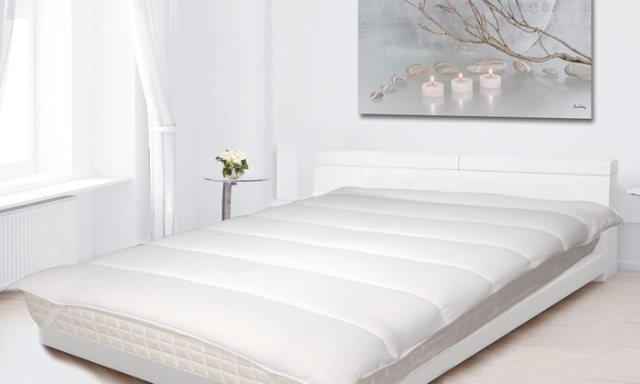 surmatelas anti acariens blanr ve groupon shopping. Black Bedroom Furniture Sets. Home Design Ideas