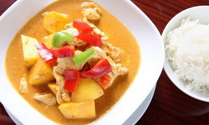 Thai Boo Cuisine - Norwood: Thai Dinner for Two or Four with Appetizers, Soup or Salad, Entrees, and Dessert at Thai Boo Cuisine (Up to 56% Off)