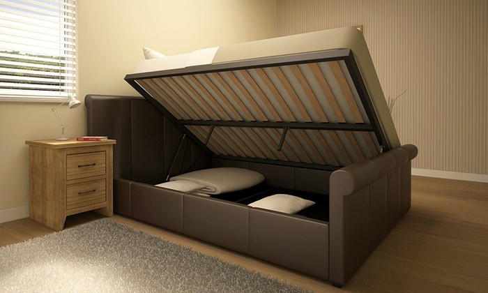 Side Lift Up Bed Storage : Side lift ottoman storage bed groupon goods