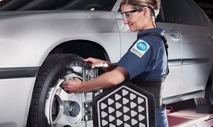 Sears Auto Center : Wheel-Alignment Package or Road Trip Ready Package at Sears Auto Center (Up to 44% Off)