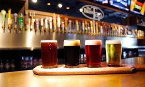 The Brass Tap: American Grill Food and Craft Beer for Two or More at The Brass Tap (Up to 40% Off)