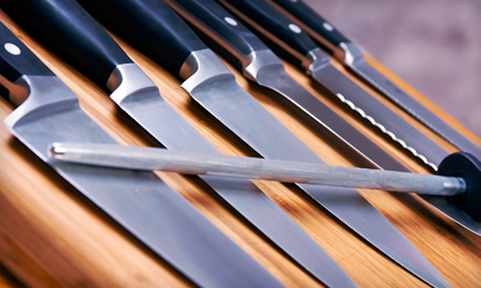 Kitchen Window - Kitchen Window: Knife-Skills Class or 5 or 10 Vouchers for Knife-Sharpening Services at Kitchen Window (Up to 53% Off)