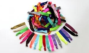Rainbow Ribbon No Damage Hair Ties (60-pack)