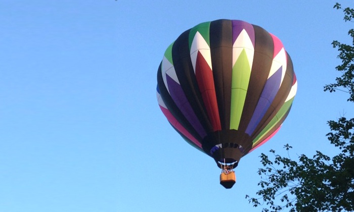 Infinity & Beyond - Salem: Semiprivate Hot Air Balloon Ride with Champagne Picnic from Infinity & Beyond (Up to 40% Off)