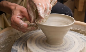 Pottery-Plus: Pottery Painting or Potter-Wheel Lesson for One or Two or BYOB Package for Two at Pottery-Plus (Up to 51% Off)