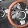 Microfiber Embossed Leather Steering Wheel Cover