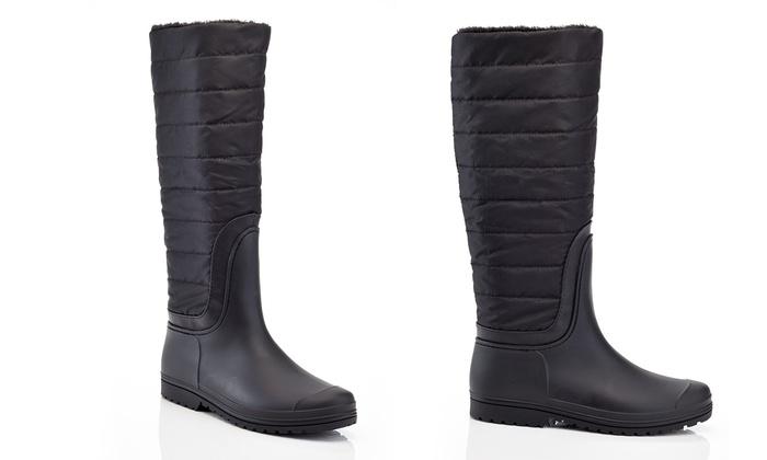 b58486ec0fc Women s Knee-High Waterproof Quilted Winter Boots