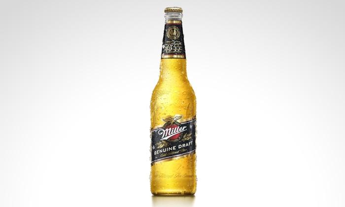 Miller - Múltiples sucursales: Desde $167 en vez de $249 por 6, 12 o 24 porrones de cerveza Miller con retiro en sucursal