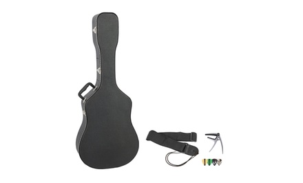 ChromaCast Acoustic-Guitar Hard Case with Capo, Strap, and Pick Sampler. Free Returns.