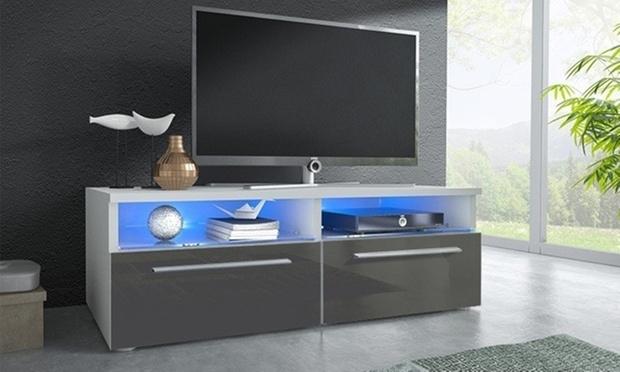 meuble tv led blau groupon shopping. Black Bedroom Furniture Sets. Home Design Ideas