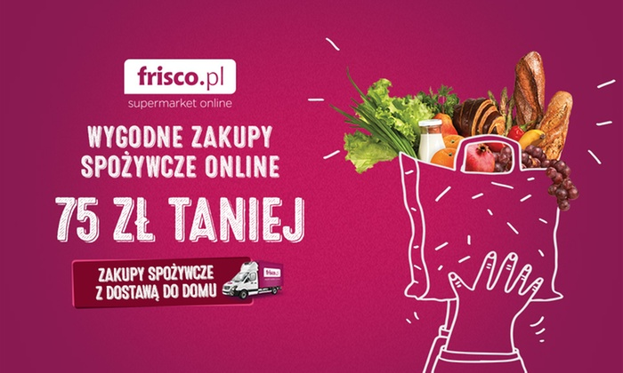 frisco.pl: 5,99 zł za groupon o wartości 35 zł i więcej na pierwsze zakupy spożywcze z dostawą do domu z frisco.pl