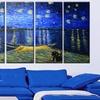 "Oversized 60""x28"" 5-Panel Van Gogh Masterpiece Reproduction Canvas"