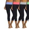 Women's Foldover Capri Leggings (5-Pack)
