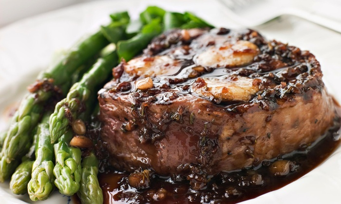 Steak and Grape - Fruitvale: $35 for $50 Worth of Steak-House Cuisine and Drinks for Lunch or Dinner at Steak & Grape Restaurant