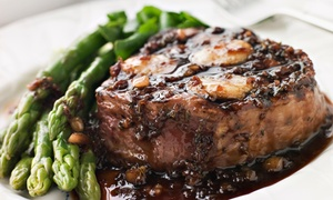 Steak and Grape: $30 for $50 Worth of Steak-House Cuisine and Drinks for Lunch or Dinner at Steak & Grape Restaurant