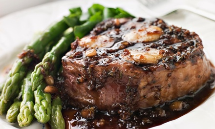 $35 for $50 Worth of Steak-House Cuisine and Drinks for Lunch or Dinner at Steak & Grape Restaurant