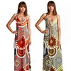 Sunburst-Print Maxi Dress
