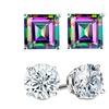 2.00 CTW Genuine Gemstone Stud Earrings