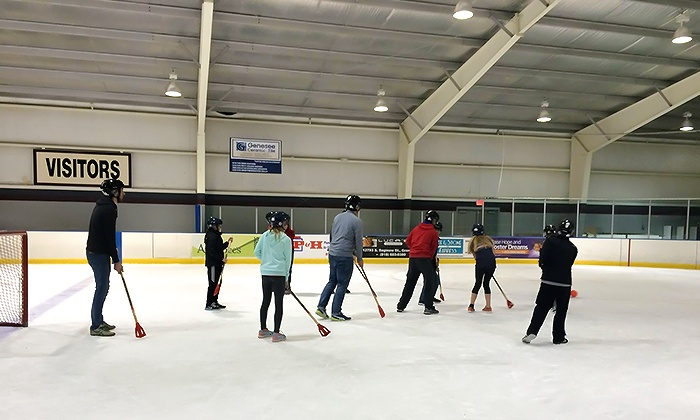 Crystal Fieldhouse Ice Arena - Burton: Broomball on the Ice Rink for 4, 6, or 12 at Crystal Fieldhouse Ice Arena (Up to 51% Off)