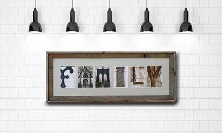 groupon daily deal - $59 for $135 Worth of Customized Letter Art from Frame The Alphabet
