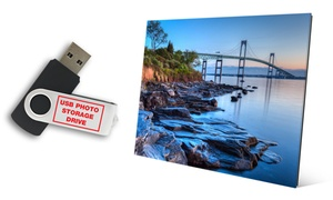 82% Off Glass Prints with Free 8GB USB Photo Drive