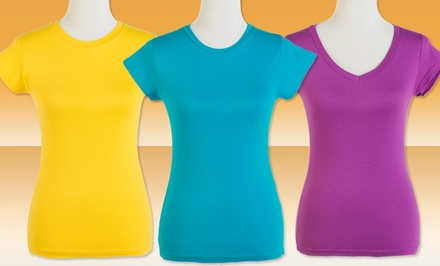 12-Pack of Grip Intimates Women's T-Shirts. Multiple Colors. Free Returns.