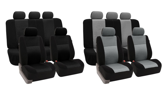 3d air mesh car seat cover set groupon goods. Black Bedroom Furniture Sets. Home Design Ideas