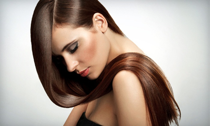 Milagro Spa - Multiple Locations: Haircut, Style, and Blowout or Choice of Single-Process Color or Face-Framing Highlights at Milagro Spa (55% Off)