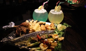 Mika Bar & Grill: Japanese Bites and Fishbowl Cocktails for Two or Four at at Mika Bar & Grill (Up to 49% Off)