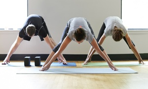 Hapa Yoga: One Month of Unlimited Yoga with Childcare Option or Five Yoga Classes at Hapa Yoga Eastlake (Up to 71% Off)