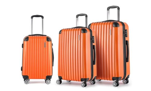 Free Shipping: $129.95 for a Three Piece Hard Shell Luggage Set with TSA Locks
