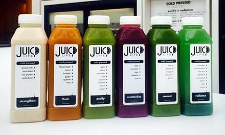 Cold Pressed Juices or Three-Day Juice Cleanse at Juicd Life (Up to 30% Off)