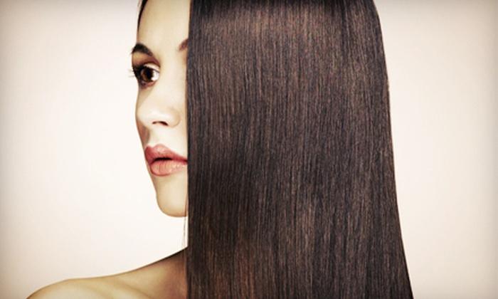 Aura Salon - Bellmore: $119 for Brazilian Keratin Straightening Treatment at Aura Salon in Bellmore ($300 Value)