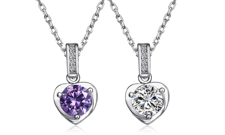 2.00 CTW Swarovski Elements Crystal Heart Pendants