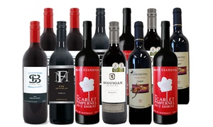 Case mix red wine, with 5-Star Wine
